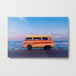 Mexico Love Bus  Metal Print