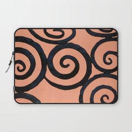 Iron Spirals in Pumpkin Laptop Sleeve