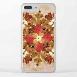 Dried Leaves Mandala Clear iPhone Case