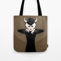 khaleesi Tote Bags featuring Sever by Ruben Ireland