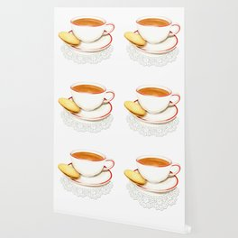 Cup of Tea and a biscuit Wallpaper