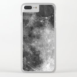 Black & White Moon Clear iPhone Case