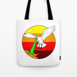 Laser Seagull Funny Retro Seagull Design Tote Bag