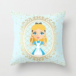 Fantastic Alice Portrait Throw Pillow