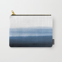 Navy Blue Watercolor Ombre Carry-All Pouch