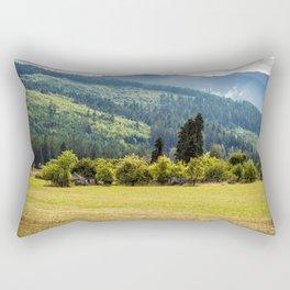 Overgrown Farmstead, Valley Near Blyn, WA Rectangular Pillow