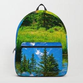 Grand Teton National Park Landscape Vertical Mountains Print Backpack