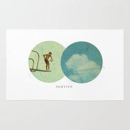 Survive | Collage Rug