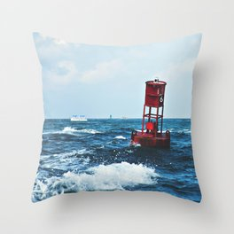 Buoy #6 Throw Pillow
