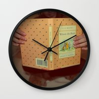 winnie the pooh Wall Clocks featuring Winnie•the•Pooh by Kearsten Taylor