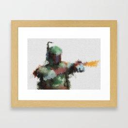 Bounty Hunter: Boba Fett Framed Art Print