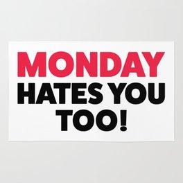 Monday hates you! Rug