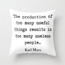 38   Karl Marx Quotes   190817 Throw Pillow