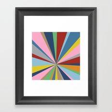 Star Burst Framed Art Print
