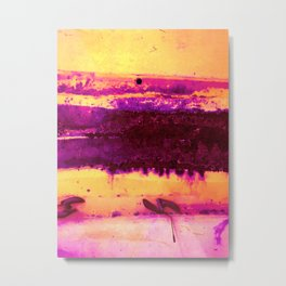 Rusted Middle Sunset Hues Metal Print