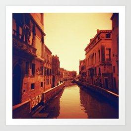 Venice in Redscale Film Art Print
