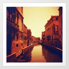 Venice in Redscale Film Art Print