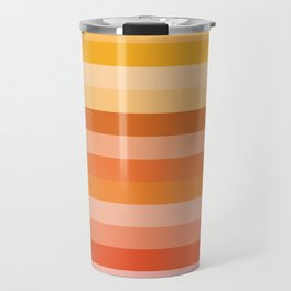 Multi Color Stripes Travel Mug
