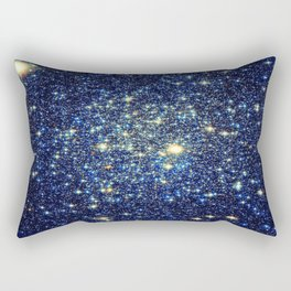 galaxY Stars : Midnight Blue & Gold Rectangular Pillow