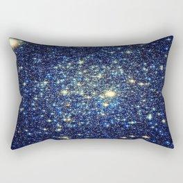 galaxY Stars : Midnight Blue & Gold Rectangular Pillow