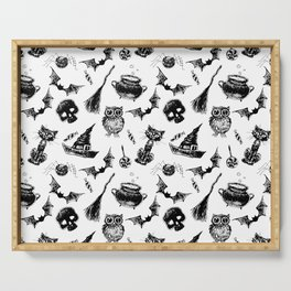 Halloween pattern design Serving Tray