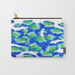 Spring  Blue Pansies Garden Abstract Carry-All Pouch