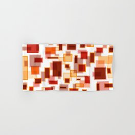 Red Abstract Rectangles Hand & Bath Towel
