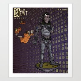 Camp Newt Weekly Moon Mag Art Print