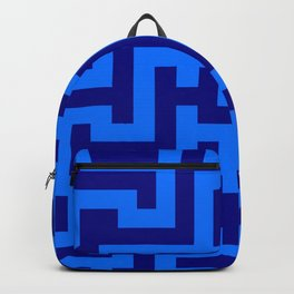 Brandeis Blue and Navy Blue Labyrinth Backpack