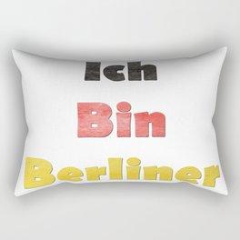 Hand Painted Ich Bin Berliner I am Berlin - German Quote Rectangular Pillow