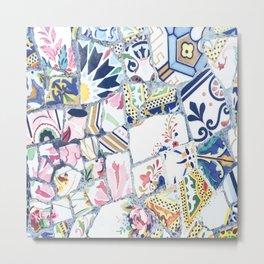 Gaudi Park Guell Mosaic Metal Print
