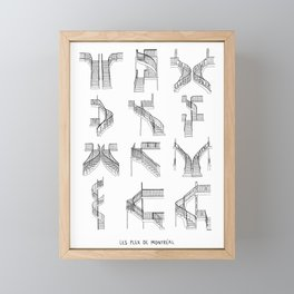 Plex de Montréal Framed Mini Art Print