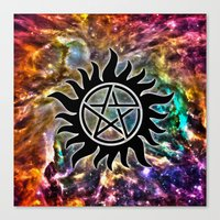 supernatural Canvas Prints featuring Supernatural by Spooky Dooky