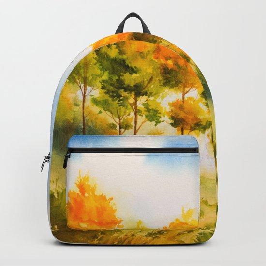 Autumn scenery #18 Backpack