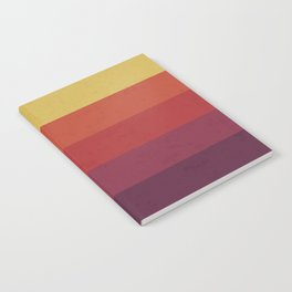 Retro Video Cassette Color Palette Notebook