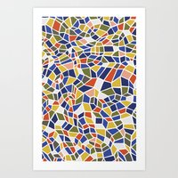 geo Art Prints featuring geo by jennifer judd-mcgee