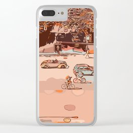 Traffic crossroad Clear iPhone Case