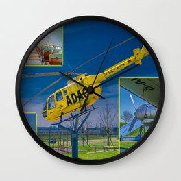Visitors Park Airport Munich Bavaria Germany Wall Clock