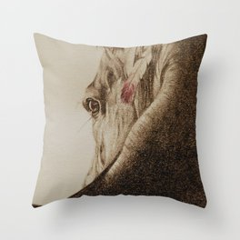 Native Horse Throw Pillow