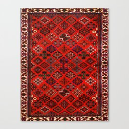 -A30- Red Epic Traditional Moroccan Carpet Design. Canvas Print