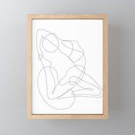 Yoga Lady Framed Mini Art Print