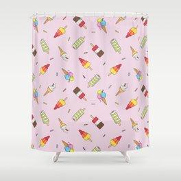 Ice Cream Multidirectional Repeat Shower Curtain