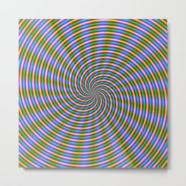 Optically Challenging Coils and Beams Metal Print