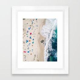 Beachin' it aerial photograph Framed Art Print