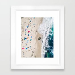 Beachin' it aerial photograph Framed Art Print