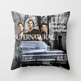 Supernatural the Winchester Boys Throw Pillow