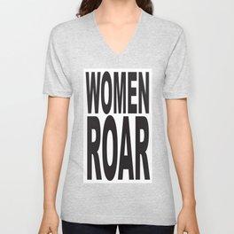 WOMEN ROAR Pop Art Unisex V-Neck