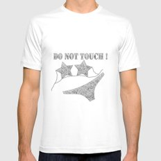 Do not touch ! White MEDIUM Mens Fitted Tee
