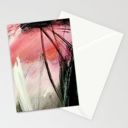 Train of thought: a vibrant abstract mixed media piece Stationery Cards
