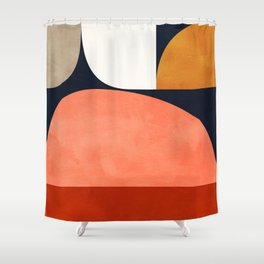 mid century geoemtric abstract autumn 3 Shower Curtain